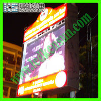 Energy saving full color HD LED video display screen dot matrix red color p4 led display indoor