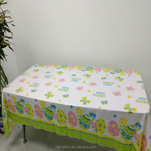 Eco-Friendly Disposable Vinyl Plastic Table Cloth Waterproof Plastic Tablecloth PEVA Table Cover for Easter