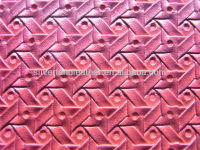 Upholstery red PU PVC leather decorating textile bags material.