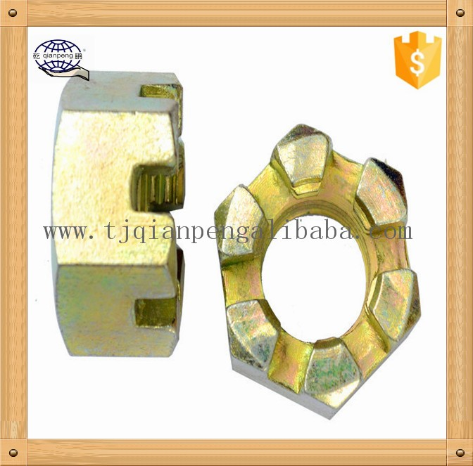China manufacture supplier low price Slotted round nuts for hook spanner plastic fastener