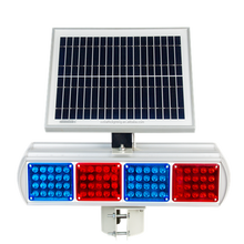 Smart control solar sunflower remote control led warning light