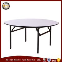 Prefessional manufacture folding cheap size 8ft round dining table