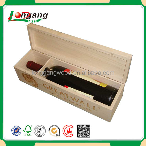 China Supply High Quality Best Price Luxury Bottle Carrier Wine Box/Packaging Box wooden wine bottle boxes/Wooden Wine Crates