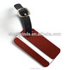 Metal Luggage Tag With Leather Stripe