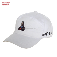 custom head image print 5-panel baseball cap and hat for president election events