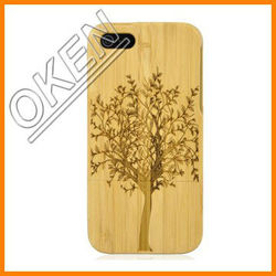 Unique Natural bamboo Custom Plain Wooden Phone Cases