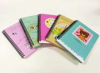 factory supply hardcover custom printed spiral notebook with 70gsm inner pages