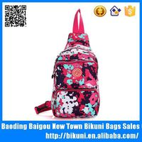 Leisure chest polyester long shoulder bag made in china