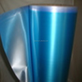 PVC Blue Color Matte Metallic Film Of Different Design Packaging Film