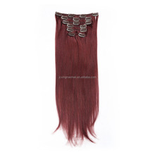 NEW tangle free good feedback 8pcs remy clip in hair extension hair styles using hair clips