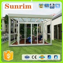 Luxury tempered insulated green house sunroom prefab glass house