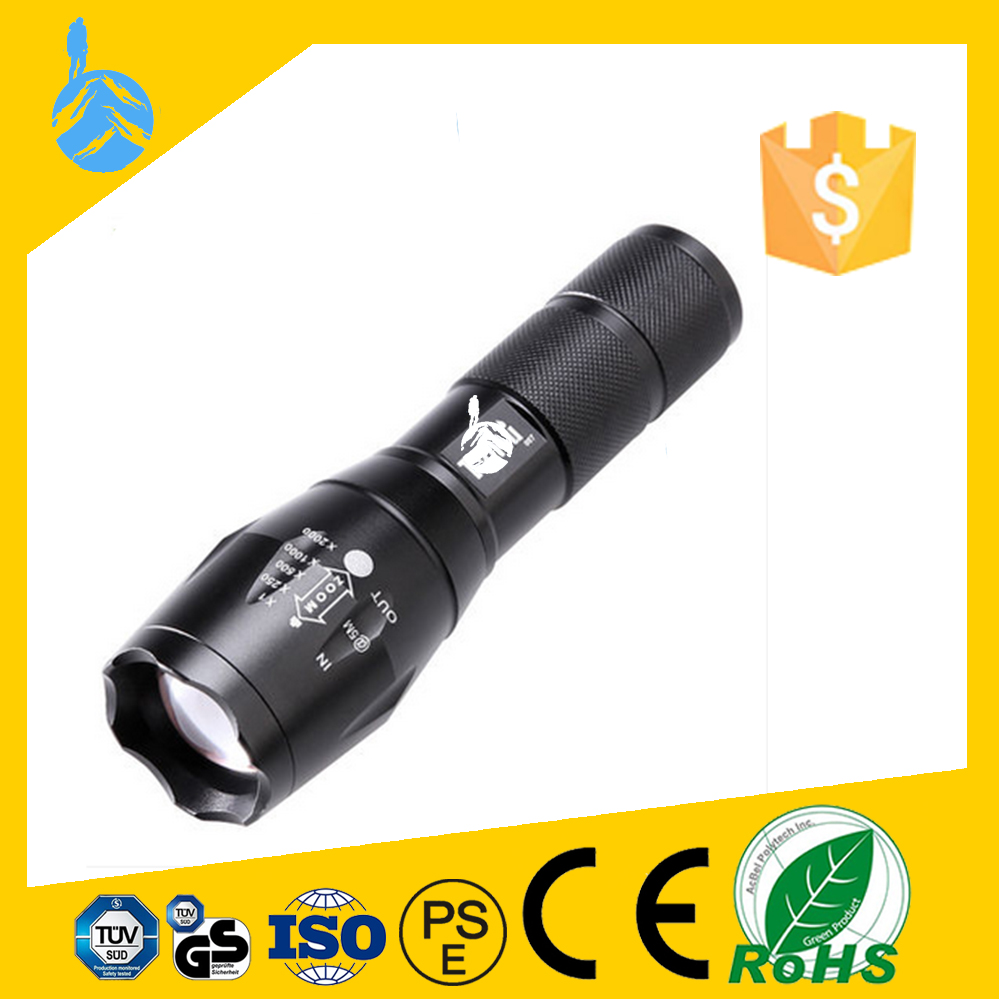 Fully Stocked Sample Available Powerful Strong Light Swat T6 Led Rechargeable Tactical Led Flashlight