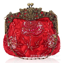 2018 top grade hand hold retro beaded women clutch party bags night club ladies bags