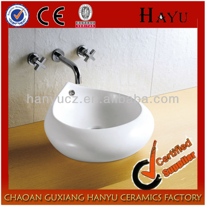 HY-5099 bathroom hotel ceramic hair wash sink