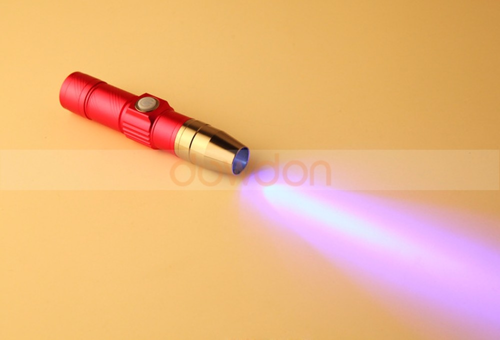 Mini USB Flashlight with Rechargeable Power Bank 365nm/395nm UV LED Torch