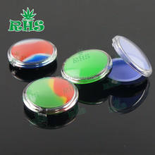 Acrylic silicon container 5ml 6ml 7ml wax concentrate silicone containers ABS non-stick dab bho oil jars tool storage jar