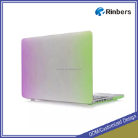 Rainbow Rubberized Pattern Hard Shell Laptop Case for MacBook Pro 13 13.3 15 15.4 Inch