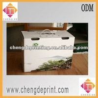 carton box for milk outer packaging with plastic handle