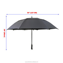 29 Inch 8 Ribs Automatic Fiberglass Golf Umbrella Unique Design