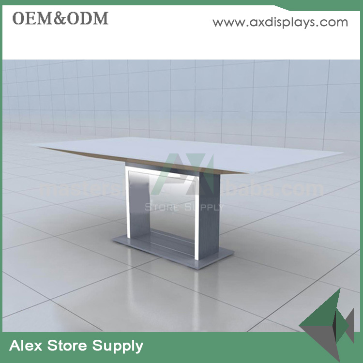 Mobile phone laptop computer counter table design for electronics store