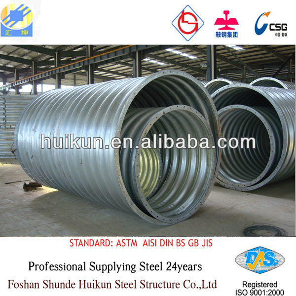 galvanized corrugated steel pipe