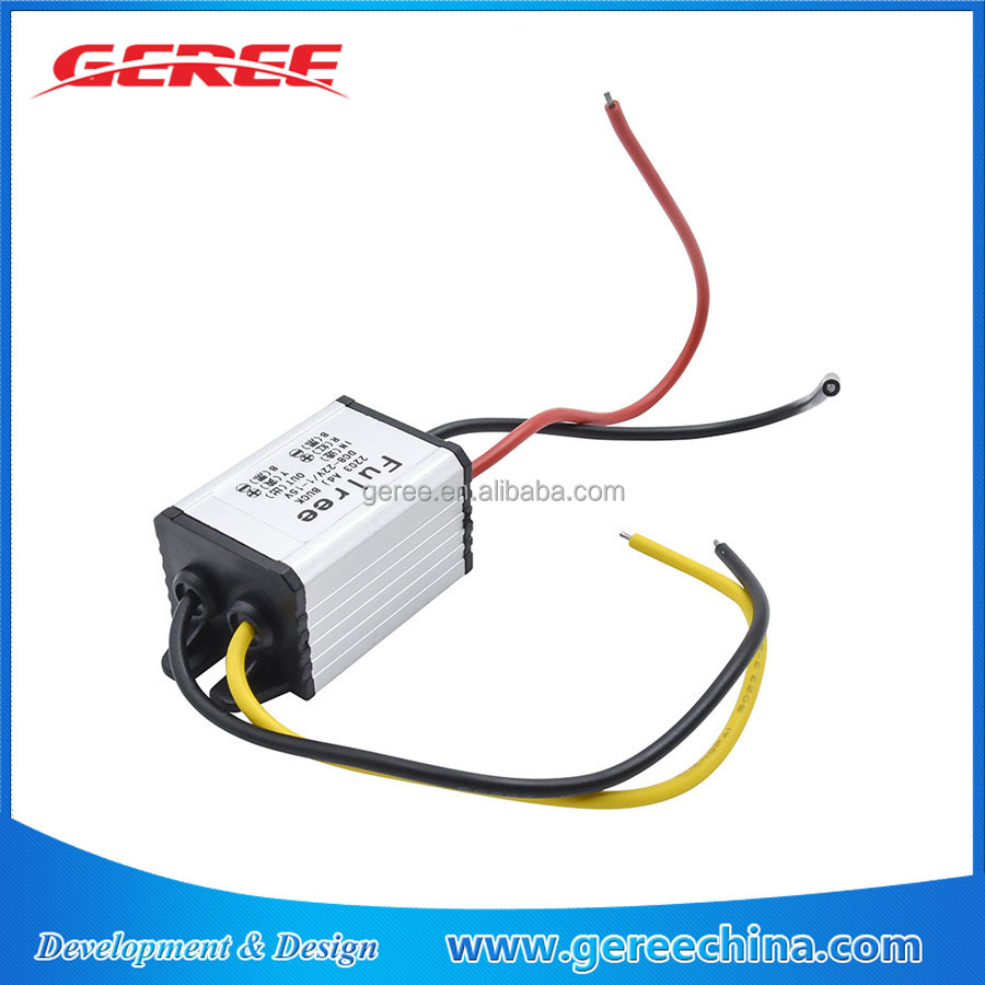 Geree DC DC Step Down buck Converter Module Voltage regulator 3-22V to 1-15V 3A power adapter