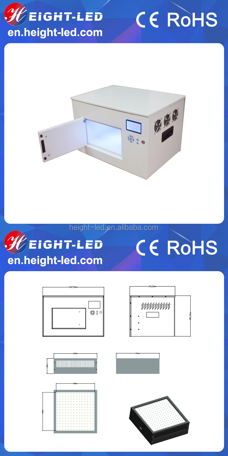 365nm small uv led adhesive curing chamber uv cure oven