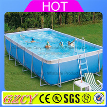 Outdoor summer rubber swimming pool rectangular above ground swimming pool