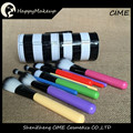 profesional 10 pcs Colorful custom logo makeup brush With Rainbow Cylinder Case