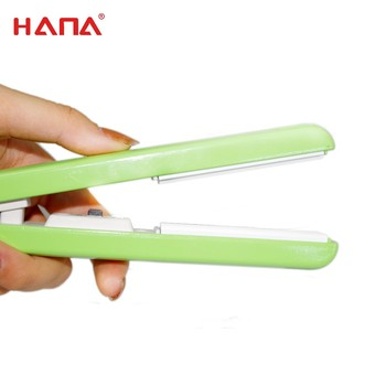 HANA hot sale mini portable hair straightener with quality approve