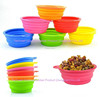 high quality travel pet food and water bowl silicone foldable dog bowl