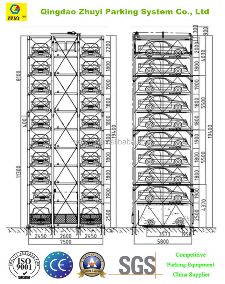 Automated Vertical Car Parking Tower Parking System