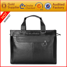Branded high quality genuine mexican leather min min handbag with laptop compartment