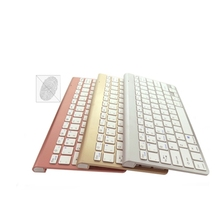 rechargeable wireless keyboard supports micro USB data cable charging gold silver rose gold three colors available