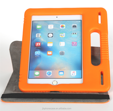 Newest arrival anti-shock EVA foam kids safe case for iPad mini cover with rotated stand handle