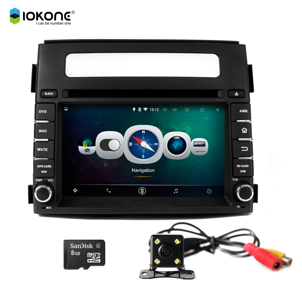 "Iokone Quad-Core 16G flash GPS Navigation 7"" Android Tablet Double Din Car DVD Player for KIA Soul 2013 2014"