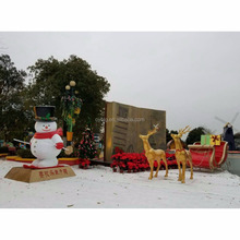 2018 Factory hand made fiberglass funny christmas outdoor decorations