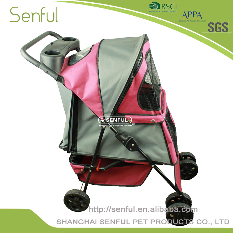 Soft Cheap Nylon Large aluminum dog trolley
