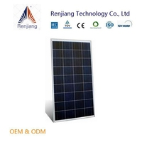 High efficiency 130W poly solar module CE, RoHs certificates