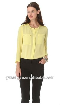OEM supply shirts for plus size women blouses guangzhou garment factory wholeasale