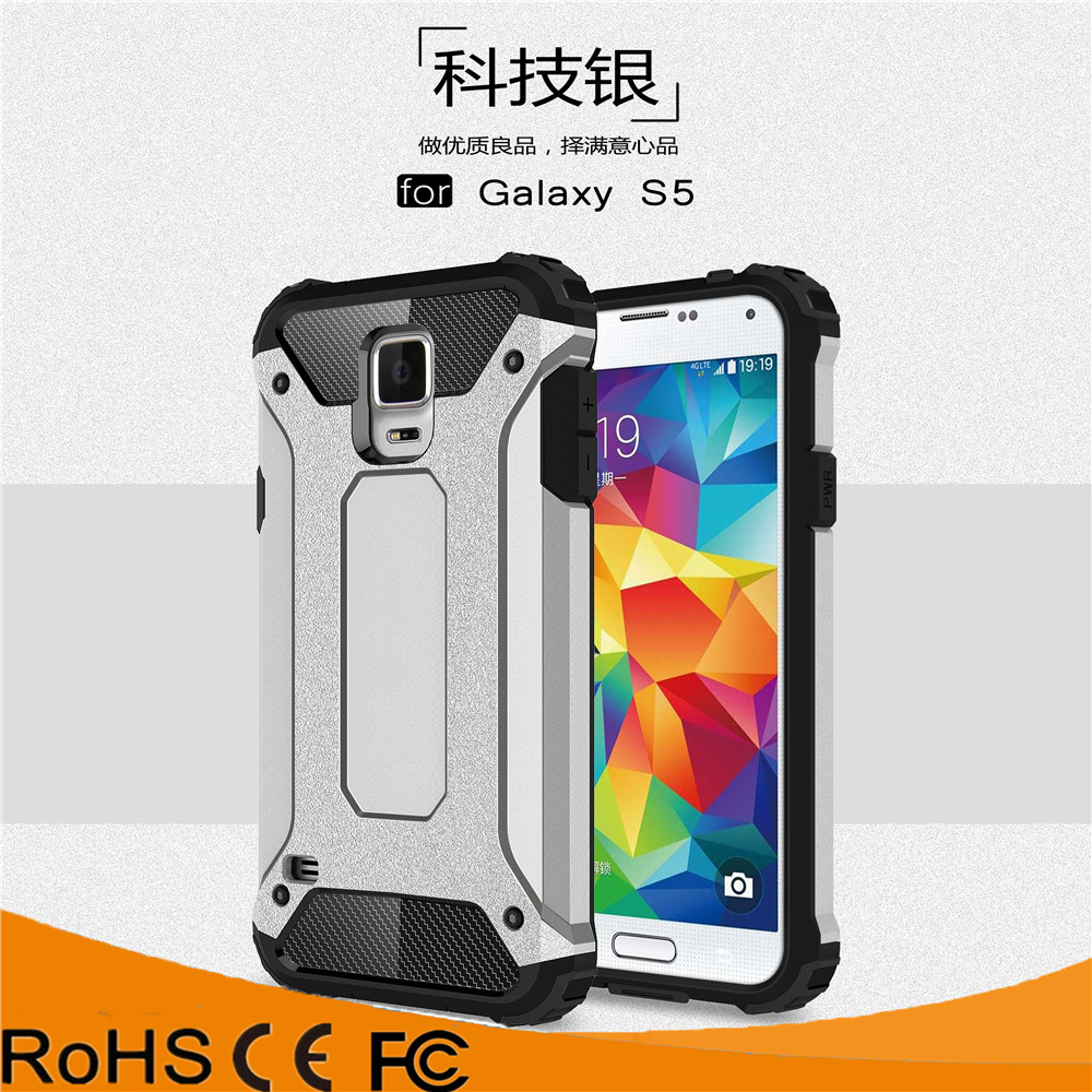 Rugged Resilient Black Ultimate Protective Case for samsung galaxy s5 shockproof case