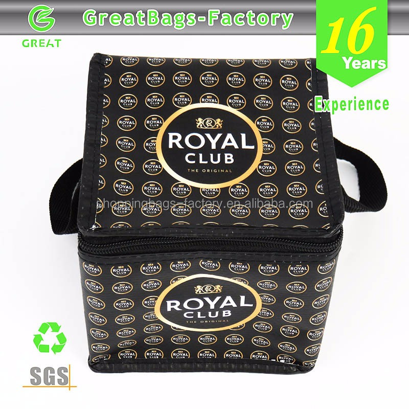4 Cans Royal Club beer bottle cooler bag