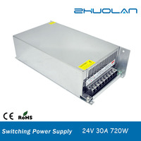 High quality DC Output 24V 30 amp 720W Switching power supply with AC Input 220V
