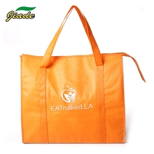 New design custom logo keep warm food non woven cooler bag