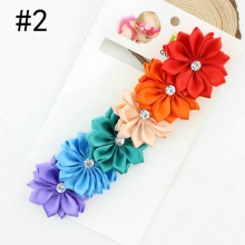 newborn infant flower headband girl elastic headband with multy flower