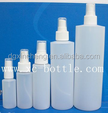 HDPE/PP natural 500ml plastic bottles with <strong>spray</strong> for Toning skin care water