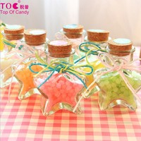 exquisite bottled star shaped fruit hard candy