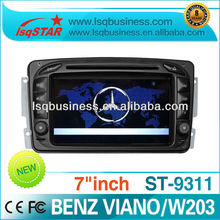 hot sale with led display car radio mp3 fm am transmitter for W209 Mercedes with IPOD GPS RDS AUX MP3 MP4 player