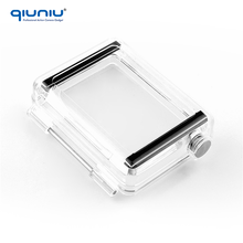 QIUNIU For BacPac Waterproof Backdoor Cover Replacement Transparent LCD Screen Back Door for GoPro Hero 3 3+ 4 Standard Housing