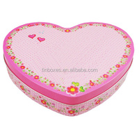 heart shaped wedding candy tin box wholesale